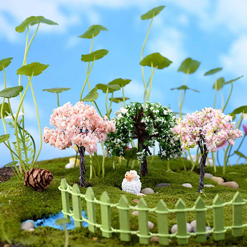 Mini Tree Plants Miniature Fairy House Dollhouse Garden DIY Micro Bonsai  Decor Drop Ship