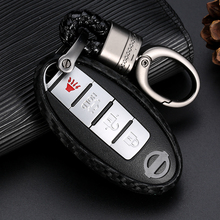 For Nissan Versa Altima Armada Maxima for Titan 370Z Infiniti M35 JX35 Q50 Carbon Fiber Silicone Key Cover Car Styling Case