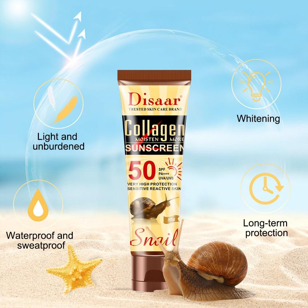 Collagen Snails Essential Face Body Sunblock Whitening Sunscreen Cream Skin Protective Cream Oil-control Moisturizing Body Care