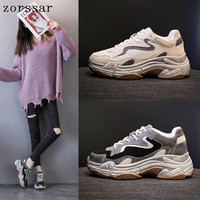 Women's Vulcanize Shoes Fashion Ladies Casual Shoes Women Sneakers Leisure Thick Soled Shoes Flats Femme Zapatos De Mujer