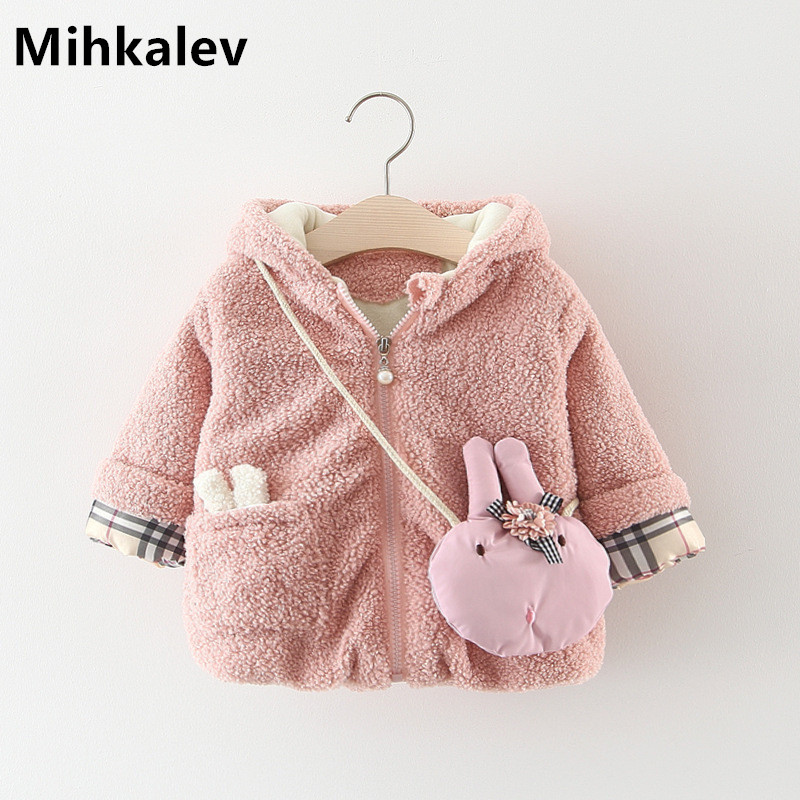 f60e536983a Mihkalev baby girl coats and jackets winter toddler girls hooded s...