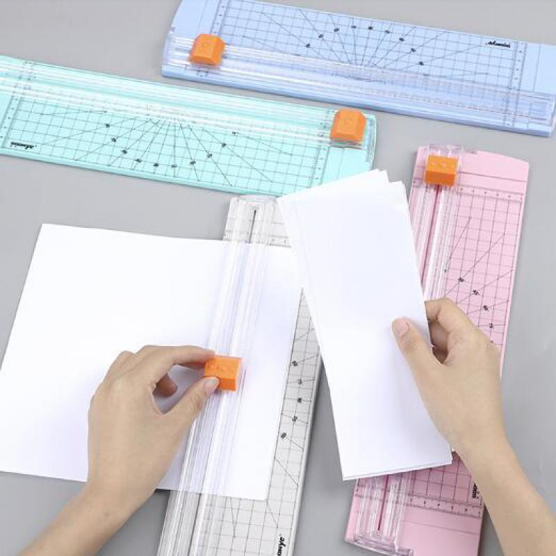Portable Paper Cutter With Rug Handy Cutting Mat Paper Card Cutting Blade For A5 Precision Paper Or Phote Cutting