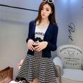 Korean Style Women Wool Knitted Sweater 2016 New Tight V-neck Full Sleeve Women Sweater Cardigan Fashion Women Sweater Cardigan