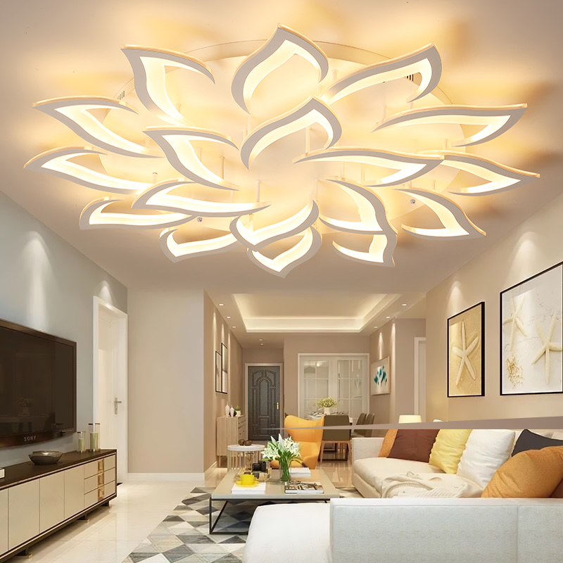 LICAN Lustre Chandelier Light for Living room Bedroom Surface mounted flower shape Modern Ceiling Chandelier Lighting Chandelier