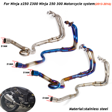 Z250 Z300 Motorcycle Full Connecting Pipe 51mm Exhaust System Silp on for Ninja 250/300 2013 2014 2015 2016