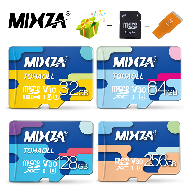 MIXZA Memory Card 256GB 128GB 64GB U3 80MB/S 32GB Micro sd card Class10 UHS-1 flash card Memory Microsd TF/SD Cards for Tablet(China)