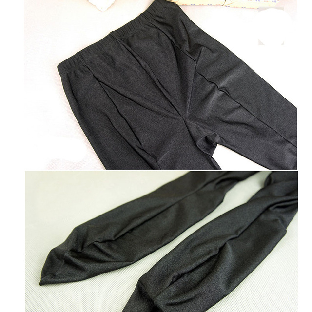 2018 Womens New Glossy Shiny Black Leggings Stovepipe Pants High Elastic Slim Legs Sexy Leggings Body Shaper Leggings For Women 8