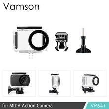 Vamson Для Сяо mi Цзя Дайвинг Водонепроницаемый чехол для mi Цзя спортивные Камера случае Экшн-камера 4 K защитный Корпус VP641