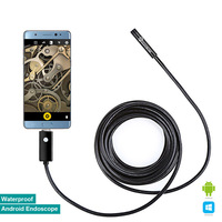 Elecrow 8mm Endoscope OTG Compatible Micro USB Smartphone Wire Camera Waterproof Borescopes Inspection Camera With 6