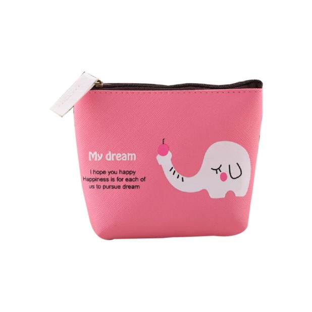 Boys Girls Cute Cartoon Animal Coin Purse Fashion Portable Zipper Wallet Bag Change Pouch Key Holder Bags 2018 New Arrival 2017 new coin purses wallet ladies 3d printing cats dogs animal big face change fashion cute small zipper bag for women pouch