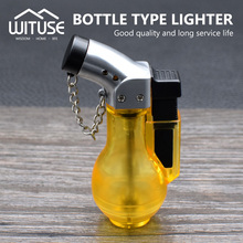 Fun Refillable Butane Cigar Cigarette Jet Lighter Gas Torch Translucent Body(China)