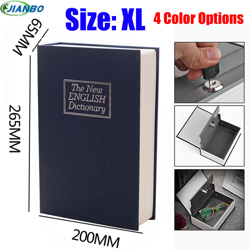 New Design Storage Safe Box Dictionary Secret Book Piggy Bank Money Hidden Secret Security Locker Cash Jewellery With Key Lock