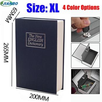 New Design Storage Safe Box Dictionary Secret Book Piggy Bank Money Hidden Security Locker Cash Jewellery With Key Lock