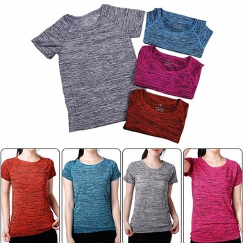 Fitness Breathable Sweat absorbing Women T Shirt Sport Tops Quick Dry Slim Running T Shirts