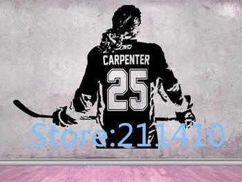 Autocollants muraux pour filles de Hockey nom personnalisé femmes-filles joueur de Hockey sur glace choisir jersey nom et numéros autocollant mural de hockey A286