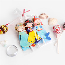 54pcs Snow White Cartoon Lollipop Candy Decorating Cards Kids Birthday Party Supplies Handmade Candy Packaging Cards(China)