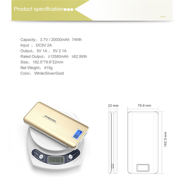 Powerful Power Bank 20000mAh