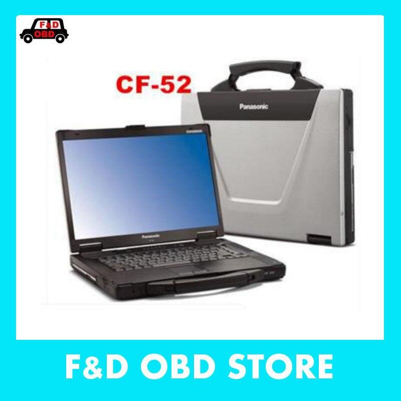 Цена за Лучшая цена для Panasonic CF-52 Военное Дело Toughbook ноутбук CF52 диагностики ноутбук может работать для BMW ICOM A2 и звезды MB C3 C4/C5