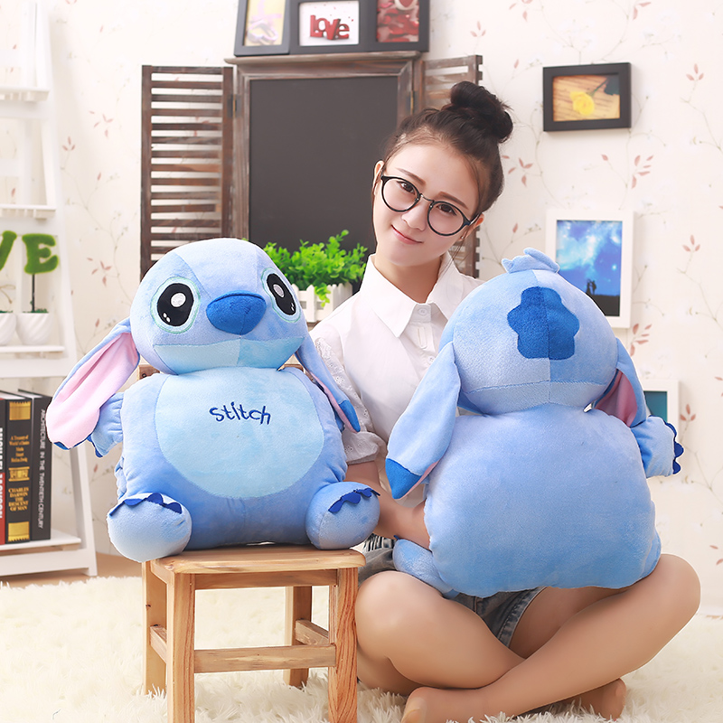 55cm Cute Cartoon Lilo and Stitch Warm Hand Pillow Plush Toy Doll Stuffed Pillow Cushion Toys Dolls Warm Hands Stitch Kids Toy cartoon rabbit brown bear cat plush toys doll waist cushion and pillow cushion for automobile