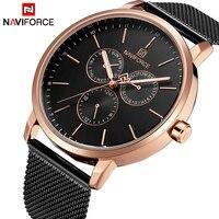 NAVIFORCE Fashion Simple Mens Watches Top Brand Luxury Business Mesh belt Quartz Watch Men Clock Male watch relogio masculino