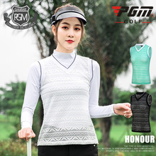 Women Sleeveless Golf Vest Tops Ladies Breathable Lace Mesh Waistcoat Spring Autumn V-neck Comfort Vest Tops D0779