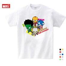 Free Shipping 2019 t-shirt Superman/Batman/spider Man/captain America /Hulk/Iron Man / T Shirt Boy Girls Cartoon T-shirt 3T-9T