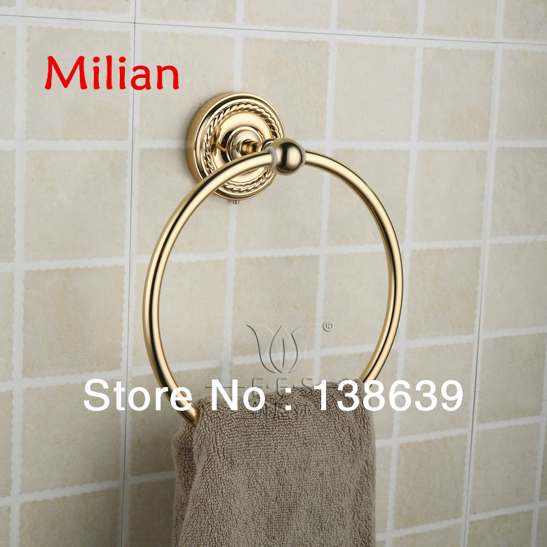 Free Shipping Solid Brass Copper Chrome Finished Bathroom Accessories Products round Towel Ring,gold Towel Holder,Towel Bar free shipping bathroom products solid brass chrome single towel bar chrome towel holder towel rack bathroom accessories cs008d 2