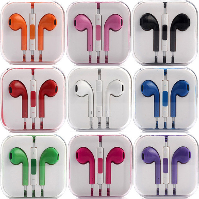 Birthday Gift High Quality Original Music Sports Headset Headphone Earphone for iPhone 4 4S 5 5S 6 6S Plus with Mic Microphone