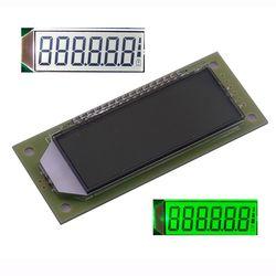 ЖК-модуль 2,4 дюйма, 6-значный 7-сегментный ЖК-дисплей, HT1621 ЖК-драйвер IC с десятичной точкой, белая подсветка, зеленый цвет