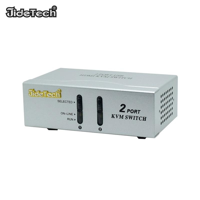 2 Port USB KVM Switch HDMI HDTV 1920*1080 USB Switch for Mouse Keyboard Printer USB 3.0 2.0 Switcher Adapter Box KVM Switch box цена 2017