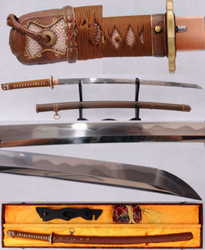 TRADITION CLAY TEMPERED FOLDED STEEL BLADE JAPANESE NAVY MILITARY OFFICER font b SWORD b font