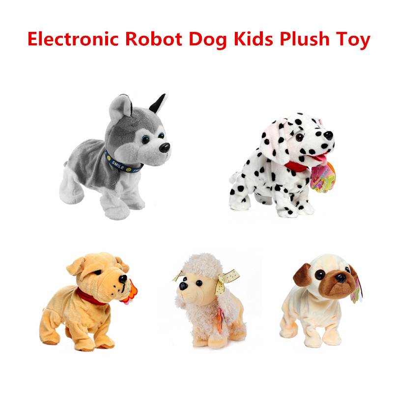 Sound Control Electronic Dogs Interactive Electronic Pets Robot Dog Bark Stand Walk Electronic Toys Dog For Children Gift