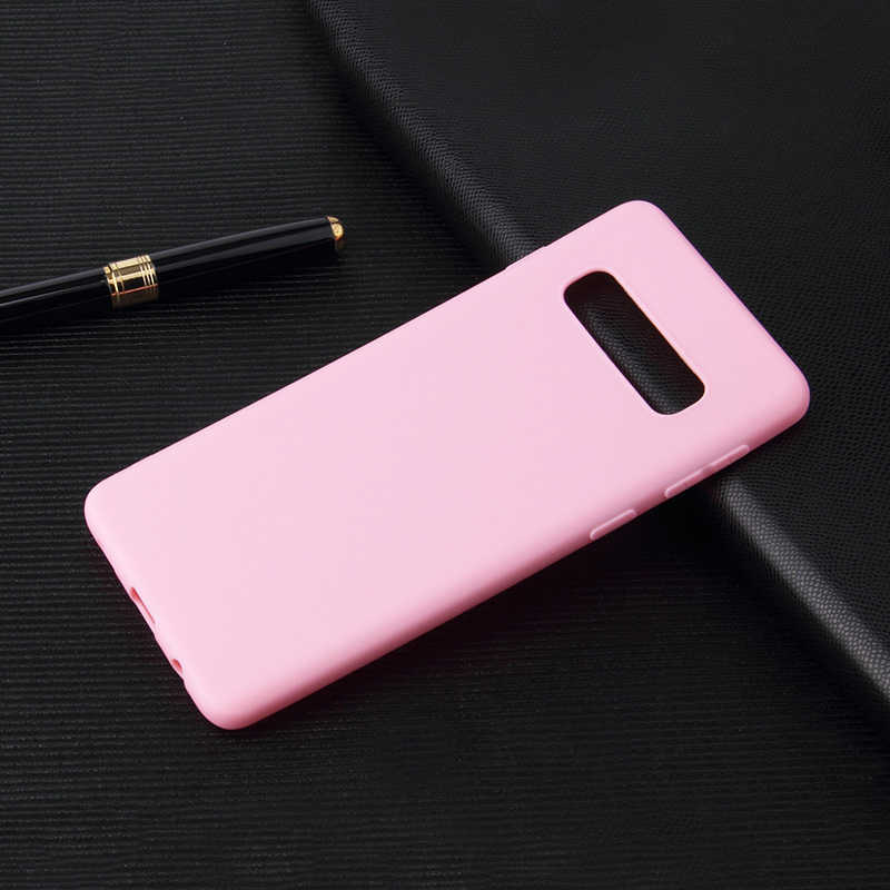 Case Telepon untuk Samsung Galaxy S10e S10 S9 S8 Plus S7 Edge A8 A6 Plus A9 A7 2018 A750 A6S a8S A8 A9 Star Lite Matte TPU Cover