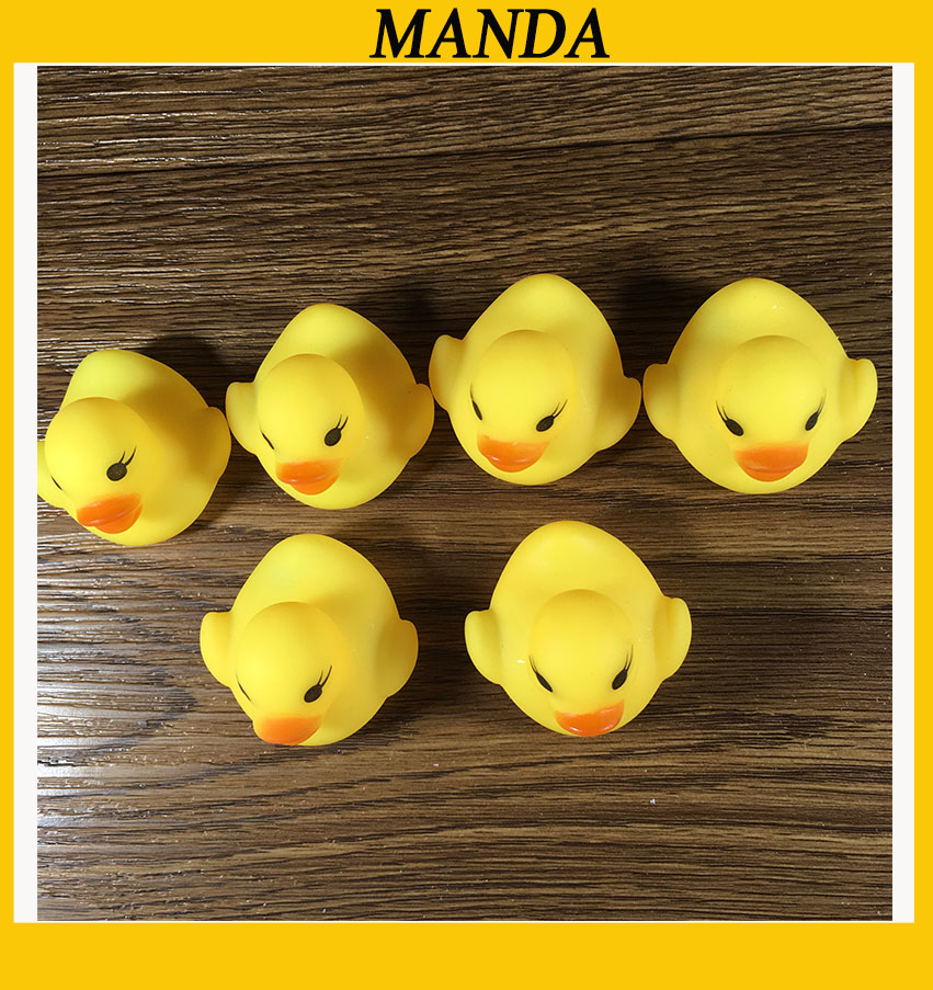 20pcs/lot 4*4*3.5cm Rubber Yellow Duck Mini Bath Duck For Kids ...