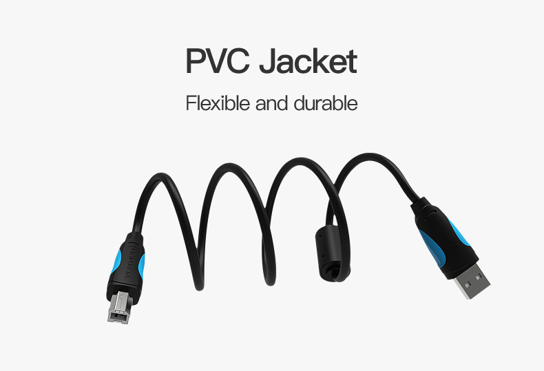 Vention USB 2.0 Type A Male To B Male Cable To Sync Data In Scanner And USB Printer 8
