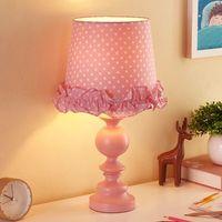 Прекрасный романтический принцессы розовый смолы ткань E27 Настольная лампа для Спальня девушки номер подарки прикроватные ч 45 см