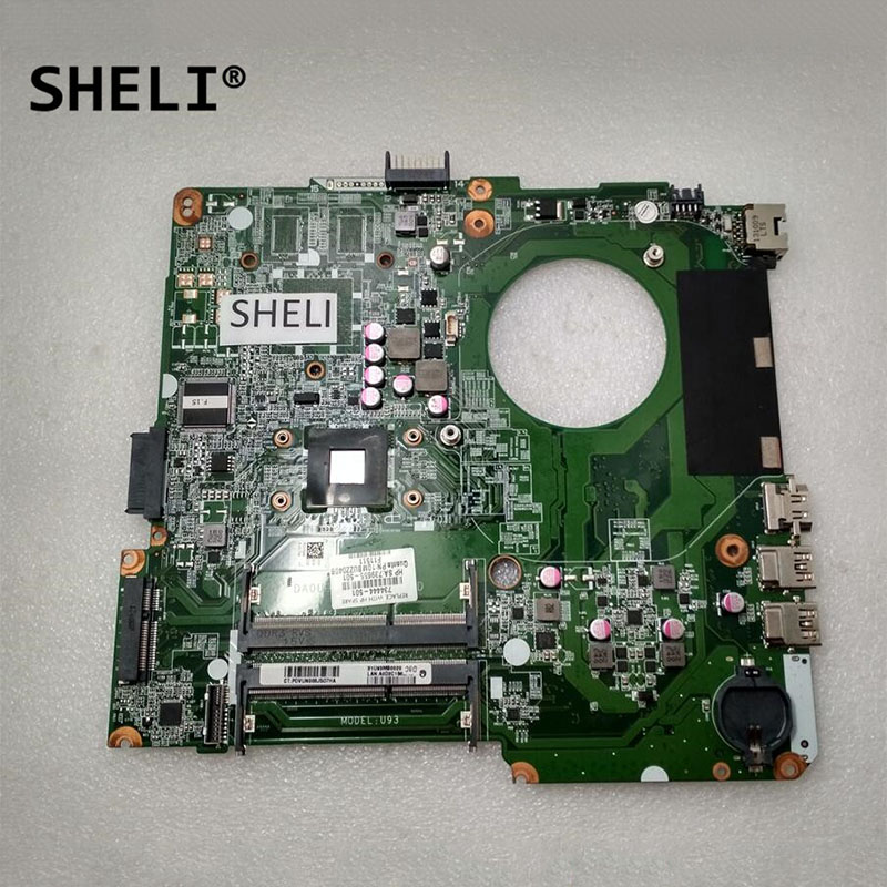 SHELI For HP 14 14-N Laptop Motherboard Notebook Pc Mainboard With A6-5200 DA0U93MB6D0 734444-501 734444-001 739655-501 Test Ok