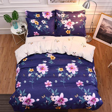 Floral Pattern Printed Bedding Set 3/4 pcs Bed Linen Kids Child Bedlinen Single Twin Full King Queen Size Duvet Cover 1.8m 2.2m(China)