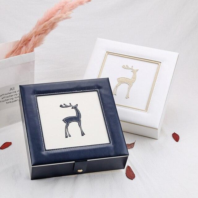 2019 Nieuwe Mode Lederen Sieraden Doos Gift Box Voor Sieraden Verpakking Display Grote Prachtige Make Up Case Luxe Sieraden Organizer