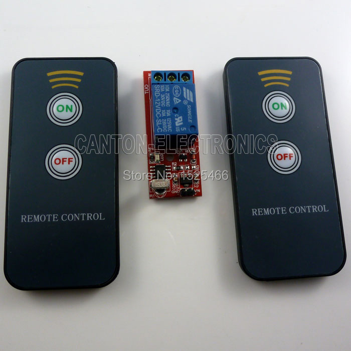 dc 12v 1ch ir infrared remote control switch relay board in