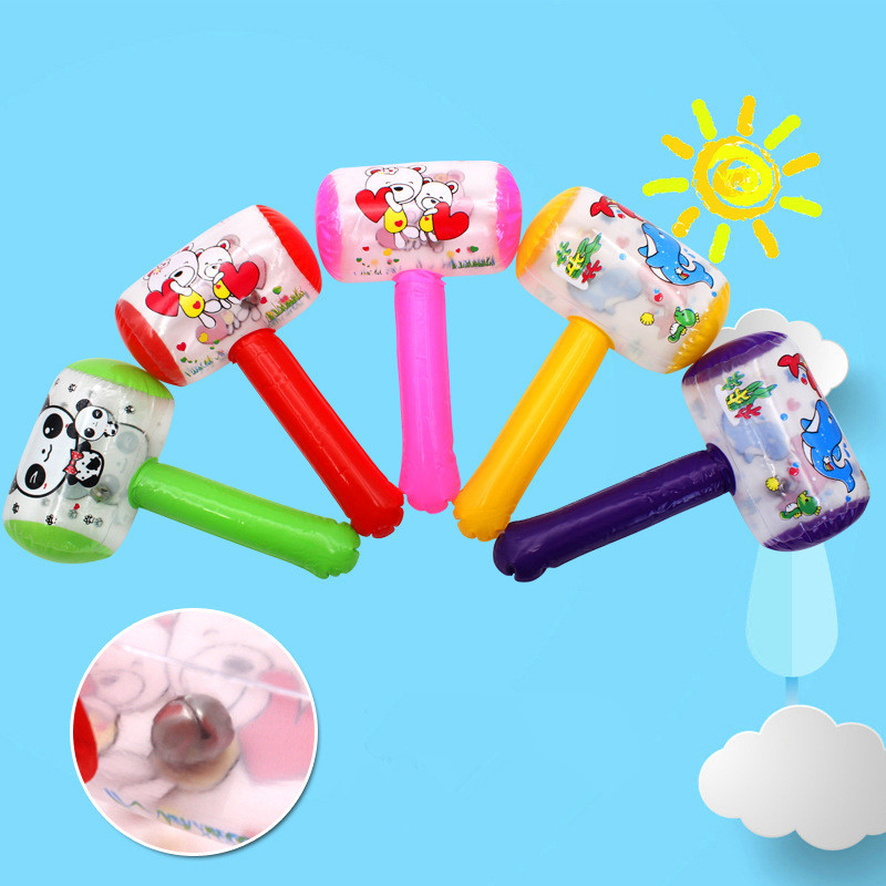 3pcs Inflatable Hammer With Bell Air Hammer Baby Kids Toys Party Favors Inflatable Toy Pool Beach Party Toy