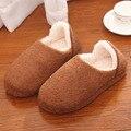 Женщины Мужчины Зима Мягкие Плюшевые Тапочки Пара Дом Обуви pantuf