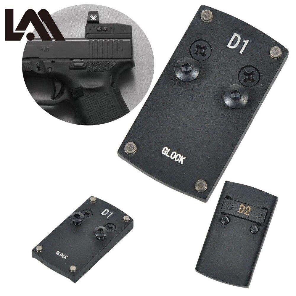 Vórtice veneno Pistola Colt 1911 Glock 17 19 20 22 reflejo vista placa de montaje adaptador para Sightmark Burris Micro rojo punto alcance