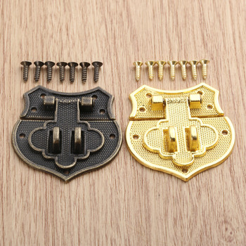 43x40mm ox Latch Clasp Heart Buckle Hasp Hasp Wooden Wine Box With Lock Buckle Antique Padlock Hardware Zinc Alloy in stock antique box buckle suitcase lock hasp antique wooden trunk metal buckle