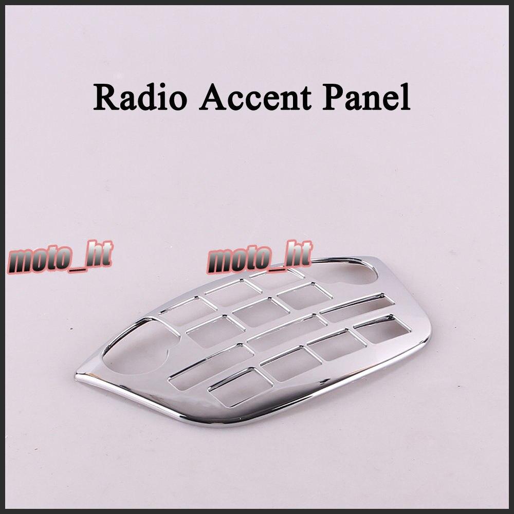 Pour Honda 2001-2011 GL1800 Goldwing Radio Accent Panneau En Plastique Chrome De Haute Qualité Moto Pièces