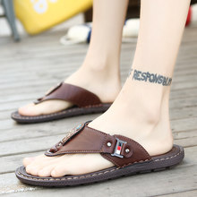 2019 Men Summer Casual Beach Flip Flops Fashion Men's Sandals Tide Wild Non-slip Comfortable Slippers Shoes Big Size 38-46(China)