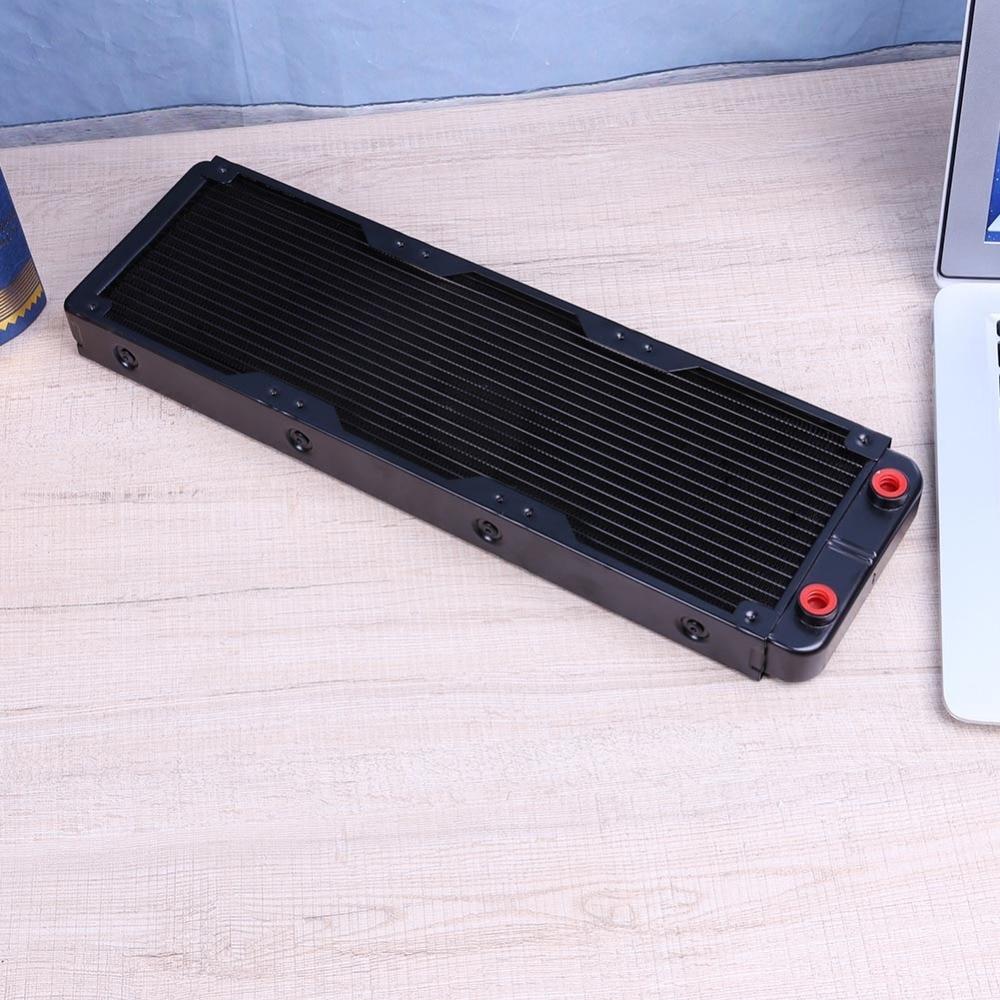 "PC Radiator Water Cooling Row for CPU Heatsink 120mm 18 Pipe G1//4/"" Straight"