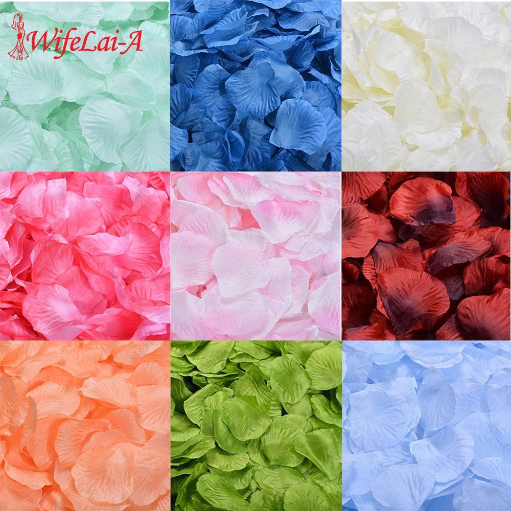 Wholesale 1000pcs/lot Rose Petals Wedding Atificial Patal Silk Flowers Decorations Marriage Party Colorful 40 Colors RP01