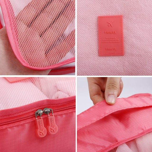 Multifunction 7 Pcs/set Women Travel Bag Clothes Underwear Bra Packing Cube Luggage Organizer Pouch Large Capacity  Handbags 4