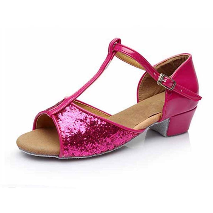 Fuschia Low Heel Wedding Shoes: Aliexpress.com : Buy Professional Rose Red Latin Dance